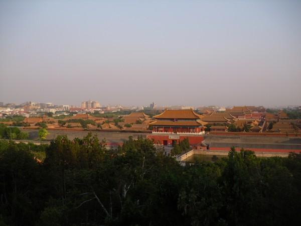 Toits de la cité interdite, photo prise depuis la Colline du charbon