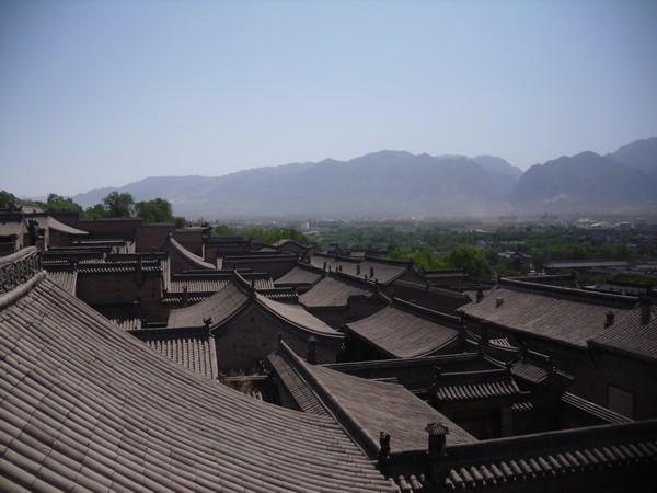 Toiture de la maison de la famille Wang en Chine