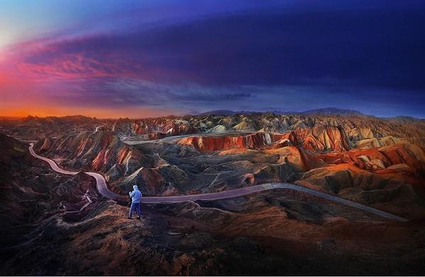 20 voyages_ lever soleil danxia landform, zhangye