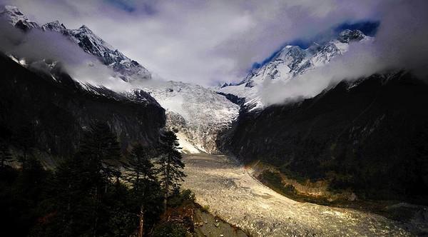 Le glacier de Hailuogou